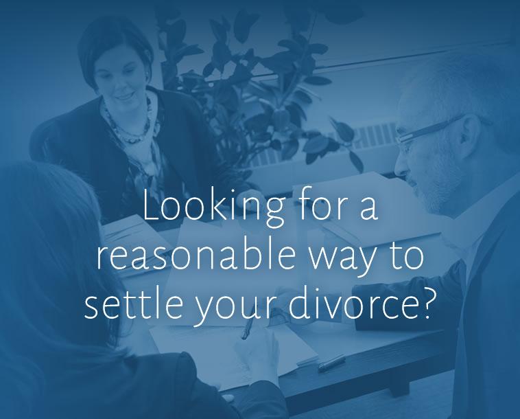 Settling a divorce